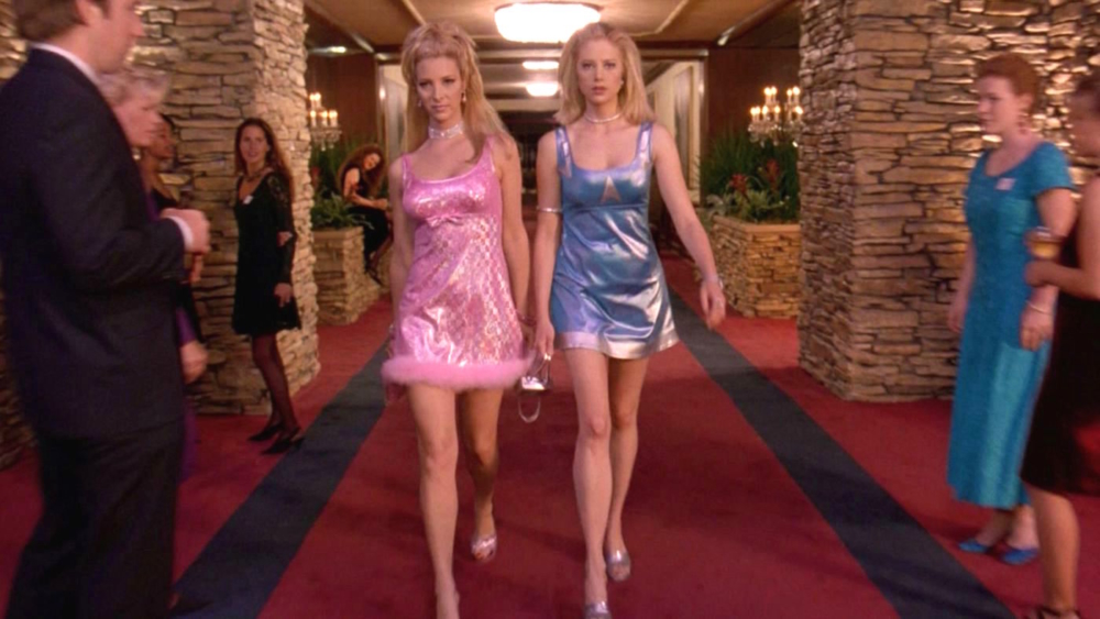 7d79b2aa4d80 The story of the comeback dresses from Romy and Michele s High School  Reunion